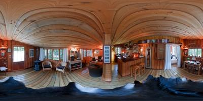 La cabane de pomme de pin - séjour