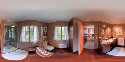 La cabane de pomme de pin - salle de bains