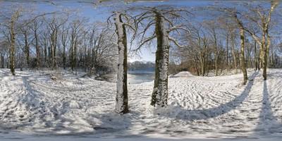 Louveciennes - étang sous la neige