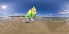 La Baule - plage et bateau