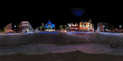 La Baule - place de la Chapelle - vue de nuit