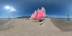 La Baule - voiliers rose