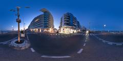 Le Baule - avenue de Gaulle et remblais de nuit