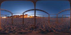 Le Pouliguen - plage nuit - structures tentes