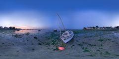 Le Pouliguen - anse de Toullain - bateau nuit