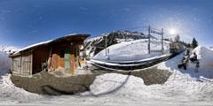 Wengen - Kleine Scheidegg : gare d'Allmend