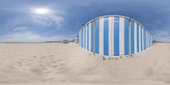 La Baule - plage et cabines de bains - 1