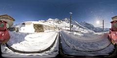 Kleine Scheidegg - Jungfrau : la gare d'Eigergletscher 1/2