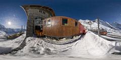 Kleine Scheidegg - Jungfrau : la gare d'Eigergletscher 2/2
