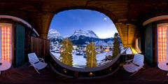Hotel Sonnenberg – Grindelwald – vue de nuit depuis le balcon
