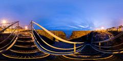 Le Pouliguen - escalier Grande Côte - de nuit