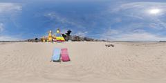 La Baule - transats sur la plage
