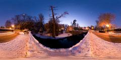 Château du Pont sous la neige — Louveciennes