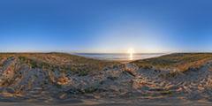 Cap Ferret - océan et dunes, coucher de soleil