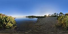 Cap Ferret - la lagune en fin d'après-midi