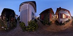 Lège Cap Ferret - village de l'Herbe... de nuit