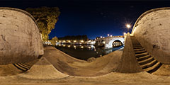 Roma — ponte Sisto bridge over the Tiber river