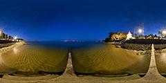 Cap Ferret - vue de nuit devant la Villa Algérienne