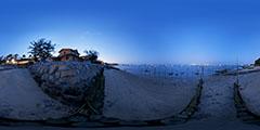 Cap Ferret -  vue de nuit - plage de l'Herbe