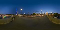Paris - pont d'Iéna et Tour Eiffel