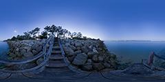 Cap Ferret - escalier non loin de chez Hortense