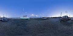Cap Ferret - lagune nuit bateaux