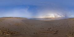 Cap Ferret - coucher de soleil à l'océan