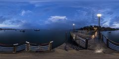 Cap Ferret - la jetée du Canon après l'orage