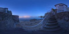 Le Pouliguen — Anse de Toullain — escaliers nuit