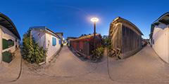 Lège Cap Ferret — village du Canon nuit — 2014