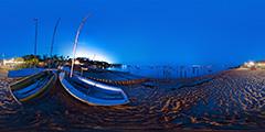 Cap Ferret — plage de l'Herbe de nuit