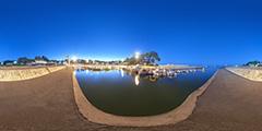 Cap Ferret — port de La Vigne de nuit