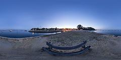 Lège Cap Ferret — port et plage de La Vigne —nuit