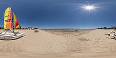 Cap Ferret — voiliers sur la plage
