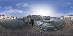Marée du siècle — Le Pouliguen — La Baule. Le port.