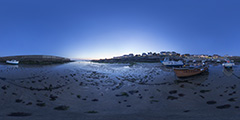 Batz-sur-Mer - bateaux plage Saint-Michel, de nuit