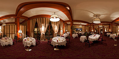 Hôtel Royal-Thalasso Barrière La Baule. L'ancienne salle de restaurant.
