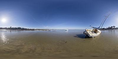 Le Pouliguen — bateau sur la baie 2