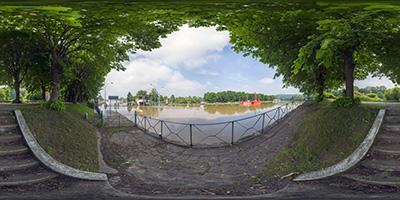 Écluses de Bougival — La Seine en crue...