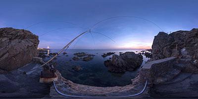 Le Pouliguen — côte Sauvage —pêcherie au clair de lune...