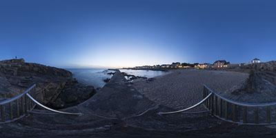 Batz-sur-Mer, plage et jetée Saint-Michel, de nuit...