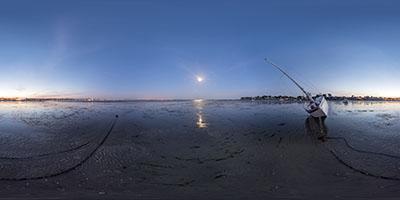 Voilier sur la baie —La Baule, le Pouliguen