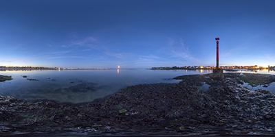 La Baule — Le Pouliguen — lever de lune sur la baie