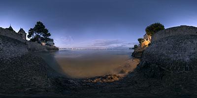Pouliguen — Anse de Toullain, le soir à marée haute...