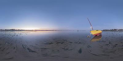 Baie du Pouliguen —bateau jaune